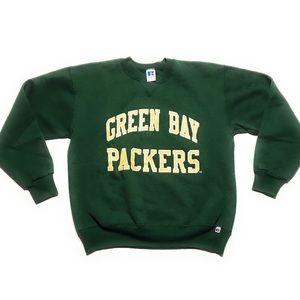 Vtg Green Bay Packers Crewneck Sweatshirt Russell